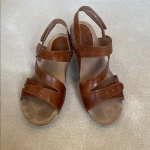 Josef Seidel brown leather sandals. Size 11.